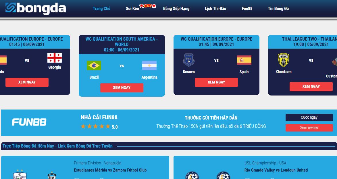 SBongDa TV - Kênh phát bóng đá trực tiếp chuẩn HD sắc nét
