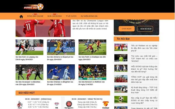 Lau Bong Da - Địa chỉ xem kèo bóng đá trực tiếp uy tín, chất lượng